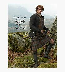 Lámina fotográfica ¡Tendré un escocés en las rocas!