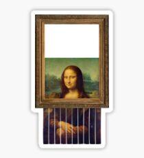 Self-Destructing Mona Lisa Sticker