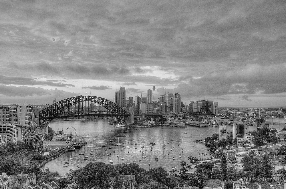 Oh What A Beautiful Morning (Monochrome) - The HDR Experience by Philip Johnson