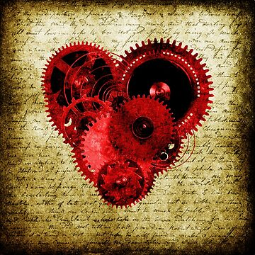 Vintage Steampunk Heart by SC001