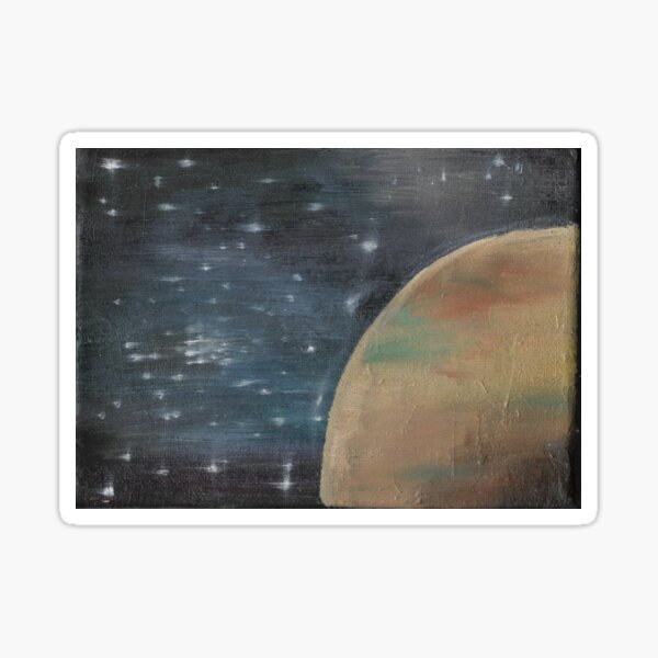 Space painting Sticker