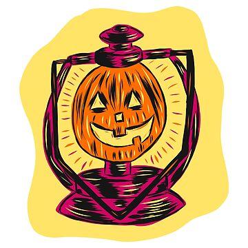 Retro Halloween Lantern by MOREDANKMEMES