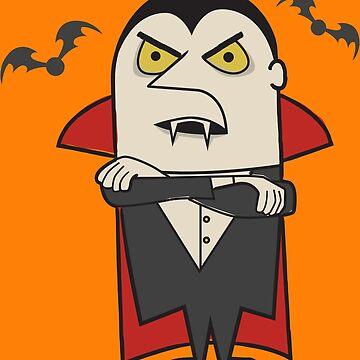 Retro Vintage Dracula Vampire by Tiki2