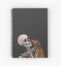 Cuaderno de espiral Perro salchicha amor