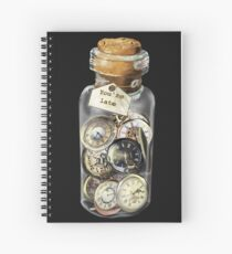 You're late for an important date! Spiral Notebook