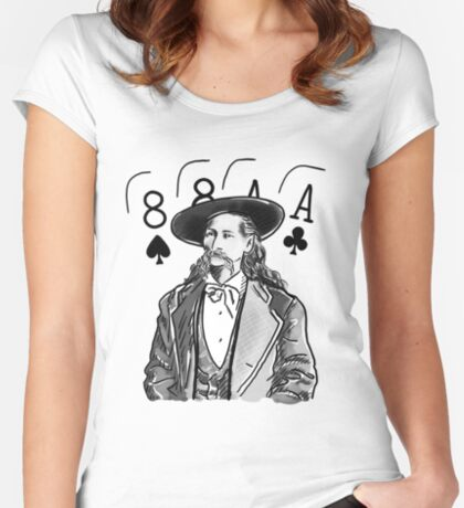 Wild Bill Hickok Poker Legend Fitted Scoop T-Shirt