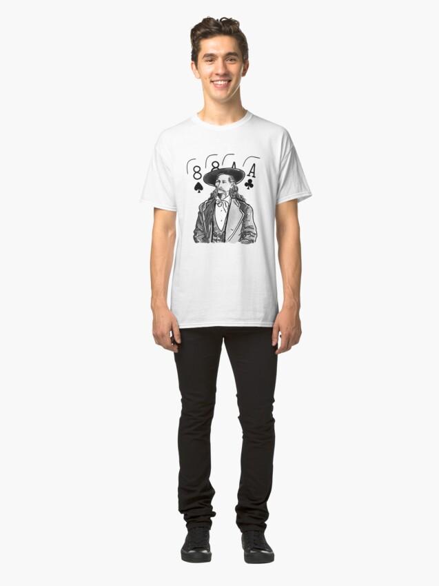 Alternate view of Wild Bill Hickok Poker Legend Classic T-Shirt