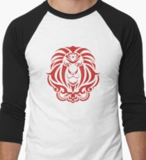 Zodiac Sign Leo Red Men's Baseball ¾ T-Shirt