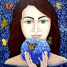 The woman who talks with butterflies by Madalena Lobao-Tello