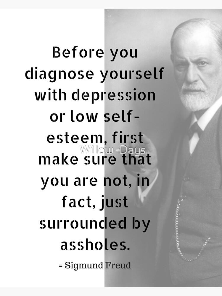 Sigmund Freud Quote Greeting Card