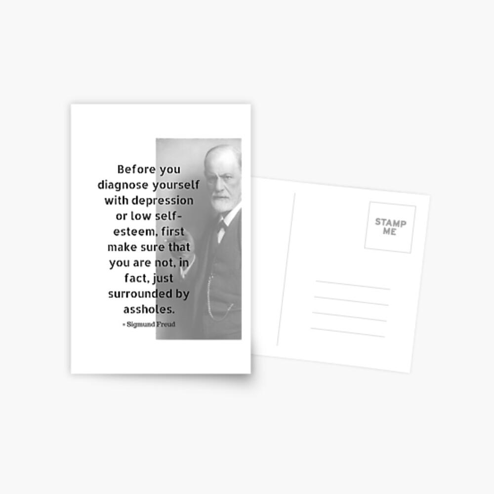 Sigmund Freud Quote Postcard