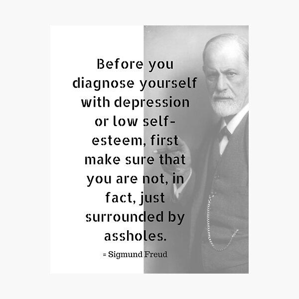 Sigmund Freud Quote Photographic Print