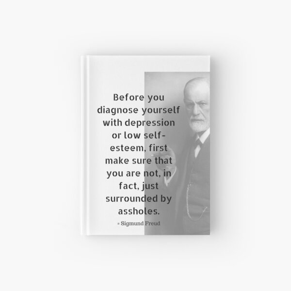 Sigmund Freud Quote Hardcover Journal