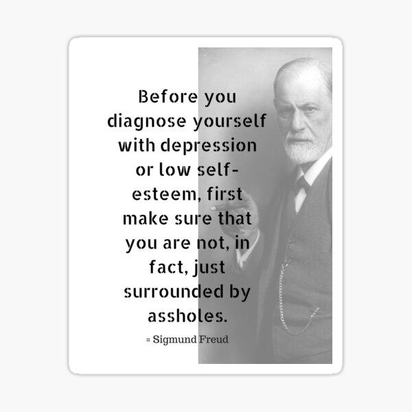 Sigmund Freud Quote Sticker