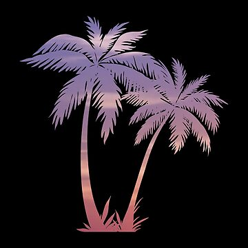 Sunset Palm Trees by hrubiks