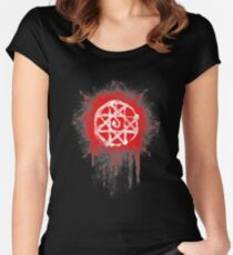 FMA. Alphonse Elrick blood sign. Fullmetal Alchemist. Women's Fitted Scoop T-Shirt