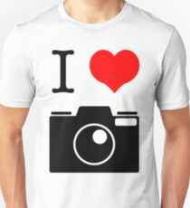 I Heart Camera no Label Unisex T-Shirt