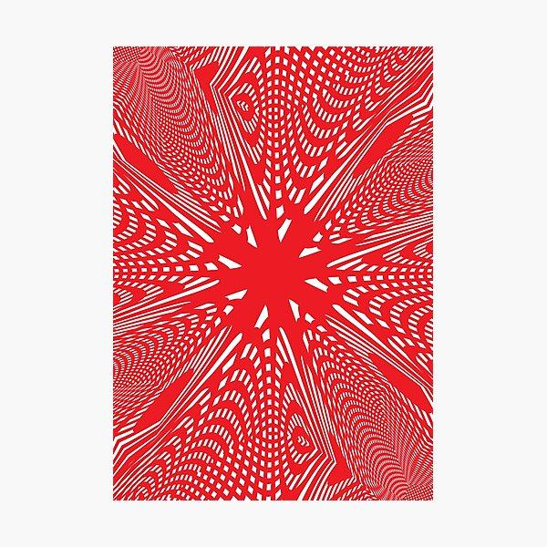 #abstract #design #illustration #pattern #futuristic #art #shape #creativity #modern #bright #vertical #vibrantcolor #red #colorimage #textured #backgrounds #geometricshape #inarow #imagination Photographic Print