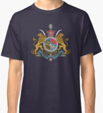 Imperial Coat of Arms of Iran under the Pahlavi Dynasty Classic T-Shirt