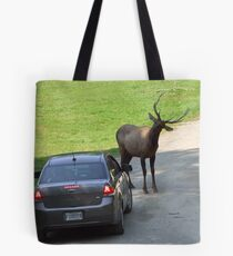 Two opposite worlds confrontation Tote Bag