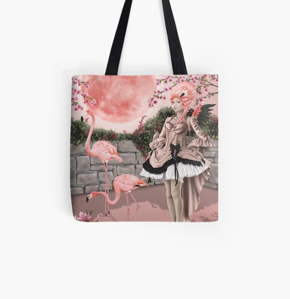 Flamingo Fairy - Pink Moon All Over Print Tote Bag