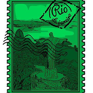 Rio de Janeiro Stamp by pda1986