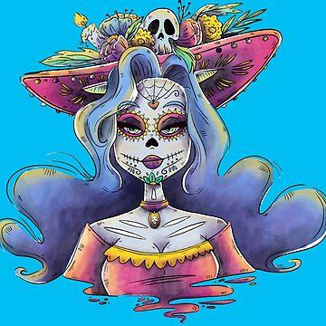 Watercolor Catrina by Bethany-Bailey