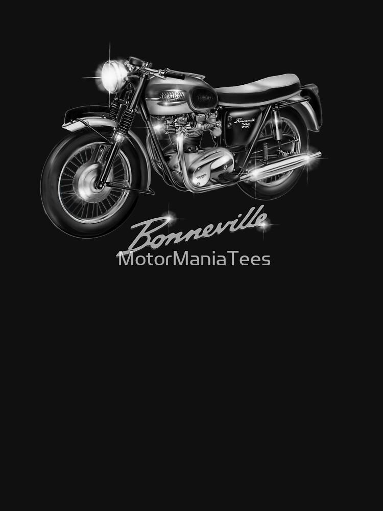 The Sensational Triumph Bonneville Motorcycle by MotorManiac by MotorManiaTees