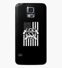 Firefighter Gift USA Flag Fireman Fire Department Gift Case/Skin for Samsung Galaxy