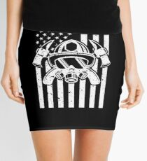 Firefighter Gift USA Flag Fireman Fire Department Gift Mini Skirt
