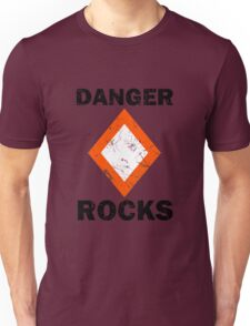 Danger Rocks Nautical Signage Unisex T-Shirt