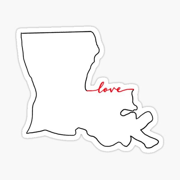 Home Sweet Home - Louisiana LOVE Sticker