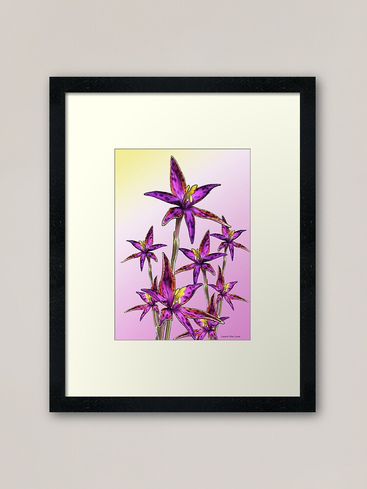 Alternate view of Eastern Queen of Sheba Orchids Framed Art Print