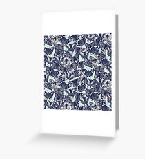 butterfly pale mint Greeting Card