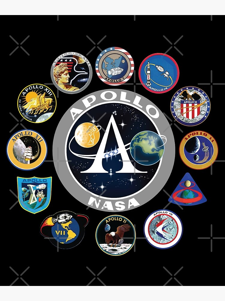 """apollo missions patch badge  nasa program"" poster"