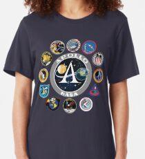 Apollo Missions Patch Badge - NASA Program Slim Fit T-Shirt