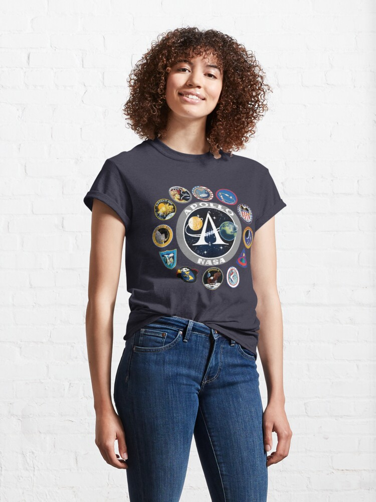 Alternate view of Apollo Missions Patch Badge - NASA Program Classic T-Shirt