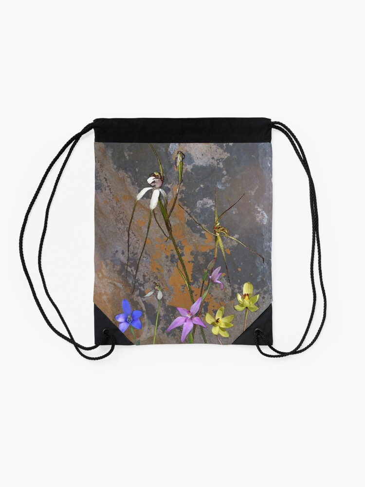 Alternate view of Meelup Orchids with Rock Drawstring Bag