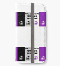Asexual Flag You Can Have Your Cake And Ace It Asexual T-Shirt iPhone Wallet/Case/Skin