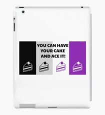 Asexual Flag You Can Have Your Cake And Ace It Asexual T-Shirt iPad Case/Skin