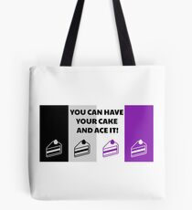 Asexual Flag You Can Have Your Cake And Ace It Asexual T-Shirt Tote Bag