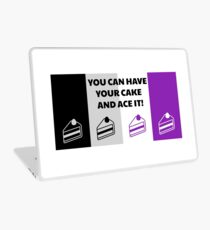 Asexual Flag You Can Have Your Cake And Ace It Asexual T-Shirt Laptop Skin