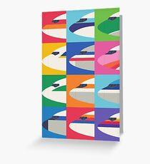 Tarjeta de felicitación Librea de aerolínea retro - rejilla grande