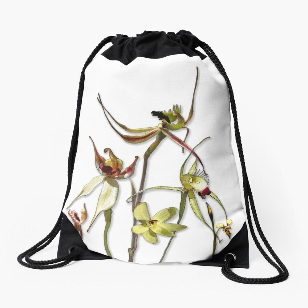 Orchids of Australia 4 Native orchids of Western Australia Drawstring Bag