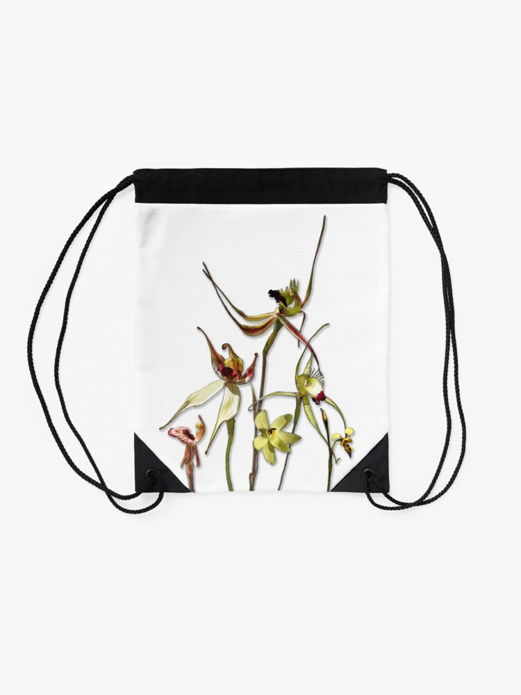 Alternate view of Orchids of Australia 4 Native orchids of Western Australia Drawstring Bag