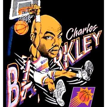 Charles Barkley Retro Basketball Cartoon WornT Shirt by NorthAmericaTs