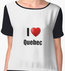 Quebec I Love State Lover Pride Funny Gift Idea Top mousseline