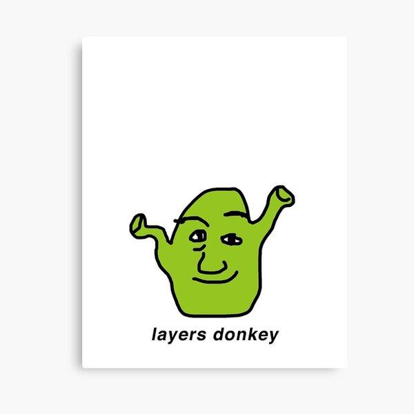 layers donkey Canvas Print