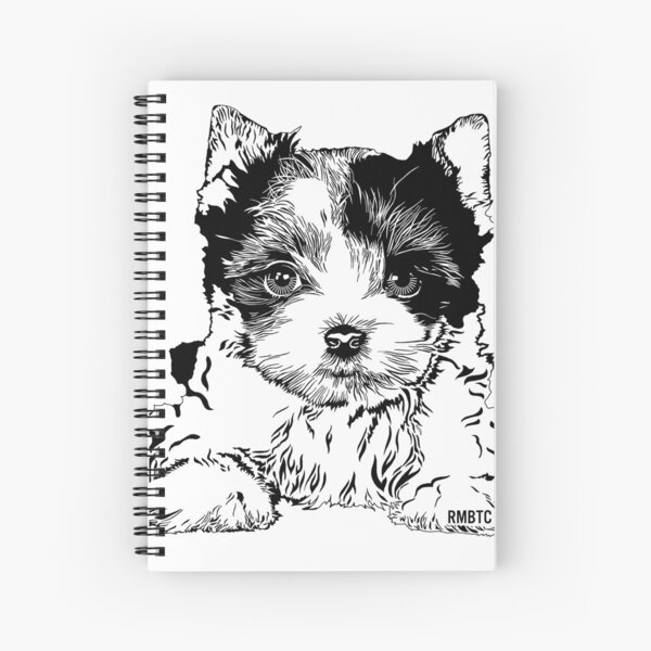 Biewer Terrier Puppy Spiral Notebook