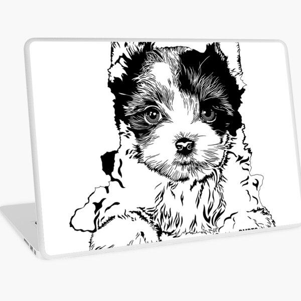 Biewer Terrier Puppy Laptop Skin